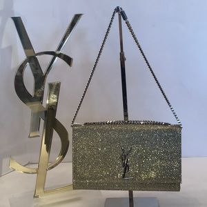 YSL BAG MONOGRAMMED SMALL GOLD/METALLIC NWT
